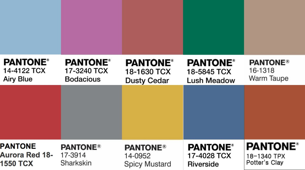 Pantone colors review fall 16 for Where to buy pantone paint
